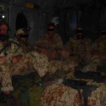 Før take-off i CH-47, Afghanistan