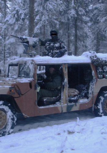 Vinterøvelse i Hummer - pissekoldt.