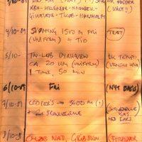 Min træningsdagbog da jeg som ung sergent trænede til Jægerkorpset